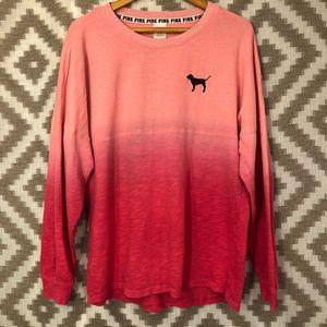 Victoria's Secret Pink Ombré Varsity Sweatshirt
